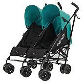 Obaby Apollo Twin Stroller, Black/Turquoise