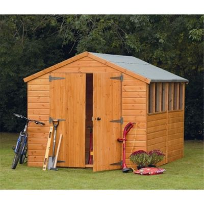 12 x 8 Rock Heavy Duty Shiplap Tongue and Groove Apex Workshop 12ft x 8ft (3.66m x 2.44m)