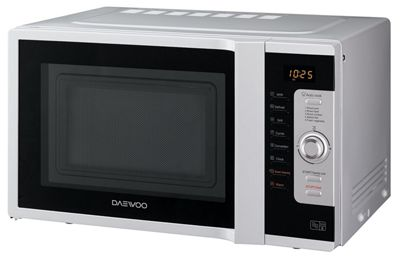 Daewoo KOR9C0TSL Combination Microwave Oven with Grill, 28 Litre, Silver