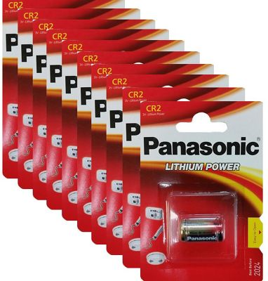 10 x Panasonic CR2 3V Lithium Photo Battery DLCR2 KCR2 CR17355 Camera