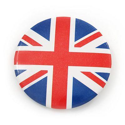 Union Jack Flag Lapel Pin Button Badge - 4.5cm Diameter