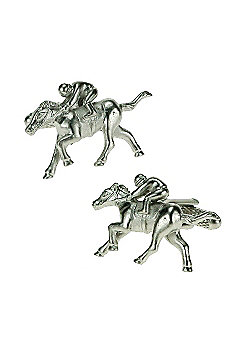 Horse and Rider Novelty Themed Cufflinks