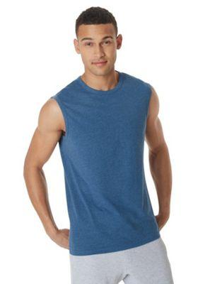 F&F Tank Vest Top Denim Blue 3XL