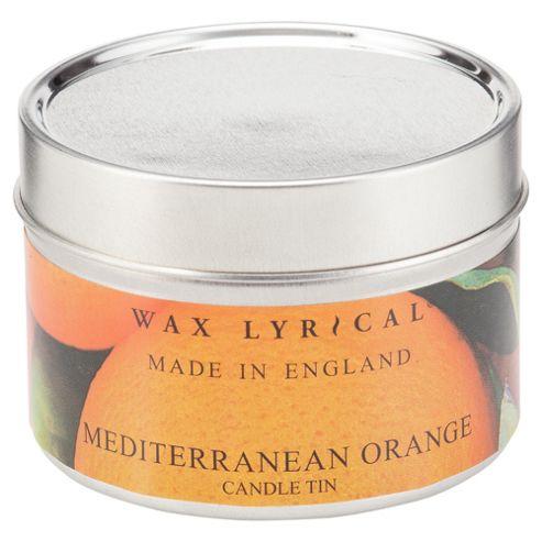 Wax Lyrical Made In England Tin Med Orange