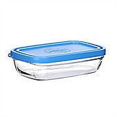 Duralex Glass Butter / Margarine Food Storage Dish With Lid - 150x40mm