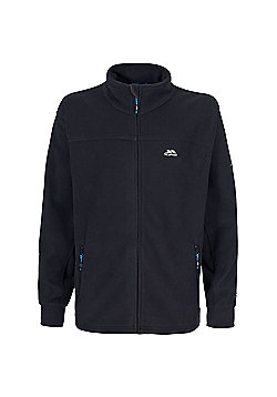 Trespass Mens Bernal Fleece Jacket Granite 3XL - Black