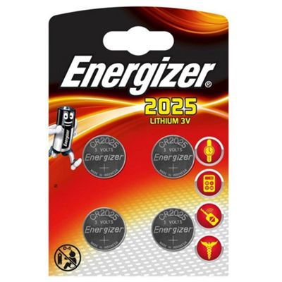 4 x Energizer CR2025 DL2025 SBT-14 3v Lithium Coin Cell Battery