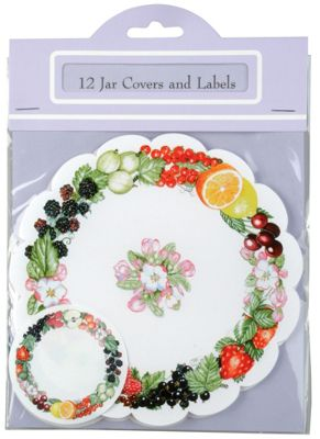 Traditional Jam / Preserves Jar Cover & Labelling Set, Pack of 12