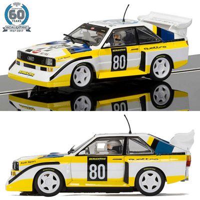 SCALEXTRIC Slot Car C3828A Anniv Col Car No4 - 1980s, Audi Sport quattro S1 E2