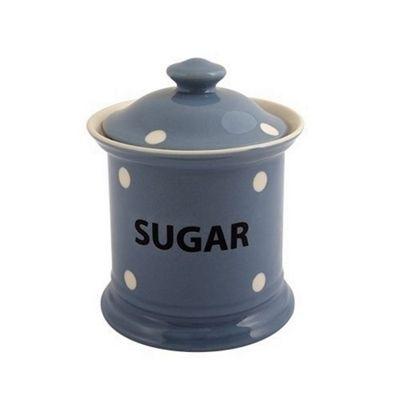 Fairmont and Main Blue Spotted Sugar Storage Jar KNSB52