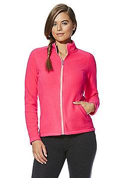 F&F Active Zip-Through Fleece Jacket - Neon pink
