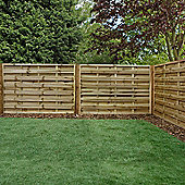 Mercia Horizontal Weave Fence Panel 4ft Pressure Treated