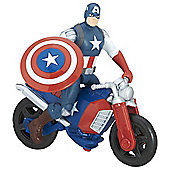 Marvel Avengers Captain America With Motorcycle 6-Inch figure