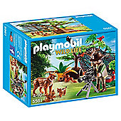 Playmobil 5561 Wildlife Adventure Tree House Lynx Family with Cameraman