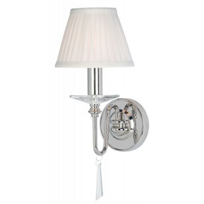 Polished Nickel 1lt Wall Light - 1 x 60W E14