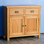 Surrey Oak 2 Door Sideboard - Rustic Oak
