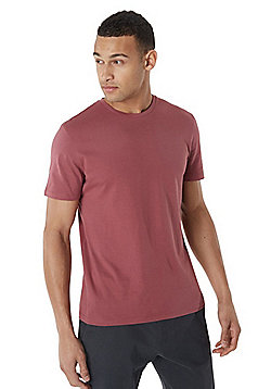 F&F Crew Neck T-shirt With As New Technology - Dusky pink
