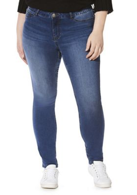 Junarose Slim Fit Plus Size Jeans Mid Wash 18