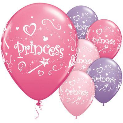 Princess Assortment 11 inch Latex Balloons - 25 Pack