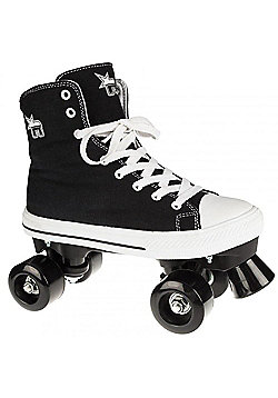 Rookie Quad Roller Skates - Canvas High Polka Dot Red/White - Black
