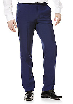 F&F Regular Fit Suit Trousers - Cobalt
