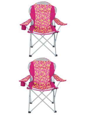 Yello Folding Padded Beach Chair For Camping, Fishing Or Beach - Pink