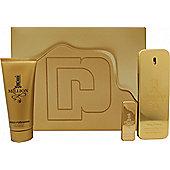 Paco Rabanne 1 Million Gift Set 100ml EDT + 5ml EDT + 100ml Shower Gel For Men