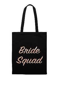 F&F Bride Squad Shopper Bag - Black