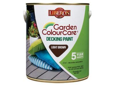 Liberon Decking Paint Light Brown 2.5 Litre