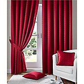 Alan Symonds Madison Pencil Pleat Curtains - Red