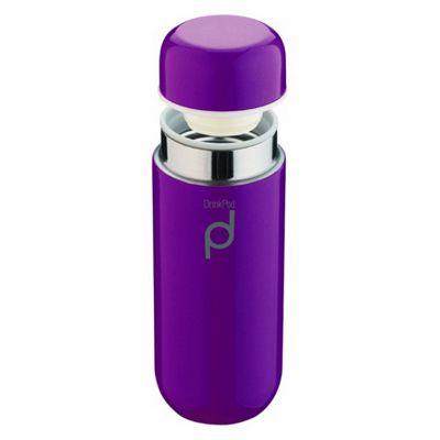 Grunwerg Drinkpod Vacuum Flask, 0.2L, Purple