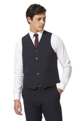 F&F Regular Fit Waistcoat Navy Blue 38 Chest regular length