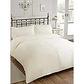 Single Cream Penelope Designer Duvet Cover And Pillow Case Bedding Set