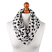 Nursing Scarf - Cream with Black Spots