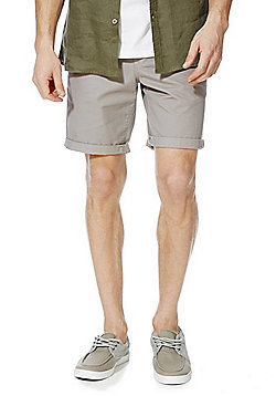 F&F Turn-Up Chino Shorts - Grey