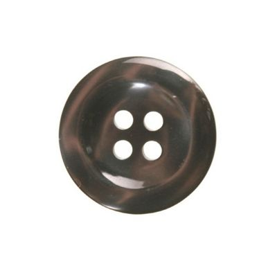 Hemline Four Hole Smoked Buttons 15mm 6pk
