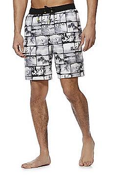 F&F Photographic Print Swim Shorts - Grey