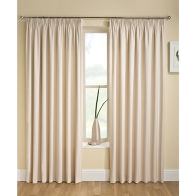 Enhanced Living Tranquility Cream Pencil Pleat Curtains - 66x54 Inches (168x137cm)