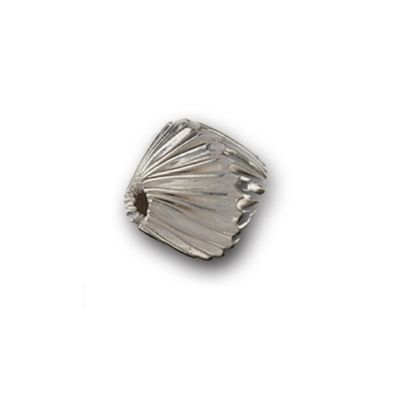 Impex Silver Diamond Twisted Pattern Beads