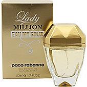 Paco Rabanne Lady Million Eau My Gold! Eau de Toilette (EDT) 50ml Spray For Women