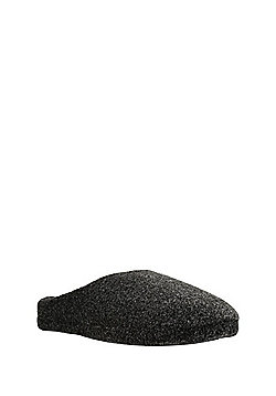 F&F Mottled Mule Slippers - Black