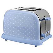 KitchenOriginals by Kalorik Blue Polka Dot Two Slice Toaster