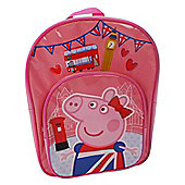 Peppa Pig 'Glorious Britain' Arch Pocket School Bag Rucksack Backpack