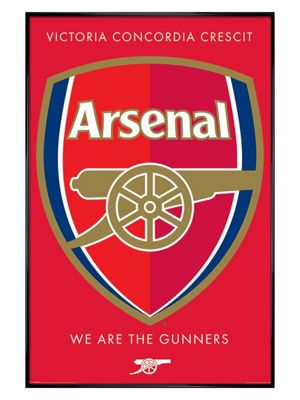Arsenal FC Gloss Black Framed Arsenal Crest Poster 61x91.5cm
