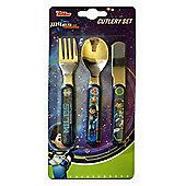 Polar Gear Disney Miles from Tomorrow 3 Piece Metal Cutlery Set
