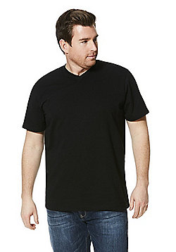 Jacamo Longer Length V-Neck T-Shirt - Black