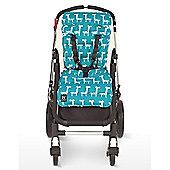 Outlook Cotton Travel Comfy Pram Liner (Turquoise Giraffe)