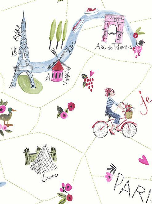 Paris With Love Wallpaper White Arthouse 696105