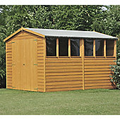 12X6 Shed In Overlap With Double Doors, Apex Roof & Safety Glazing By Finewood
