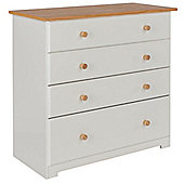 Core Products Colorado CL514 4 Drawer White Chest